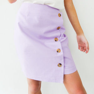 Dresses & Skirts - Lavender Love Mini Side Button Skirt